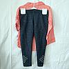 Набор детский для девочек 4-6 лет рубашка и лосины Пудра.  K:4848-2 Турция, фото 3