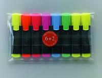 Маркеры набор TextLiner 6+2 желтых