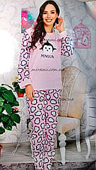 Теплые пушистые пижамы оптом, цвета, р-р 2XL