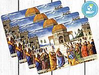 Комплект подстилок на стол под тарелки Вручение ключей Святому Петру