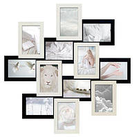 Коллаж фотографий на 12 фото (дерево) 70*70 см фотоколлаж рамка для фото фоторамка ФР0007