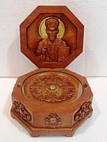 Ковчег из дерева на 1 мощевик Св. Николай, фото 1