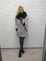 Акция! зимняя куртка пуховик shenowa с натуральным мехом енота, l, 46 размер, фото 1