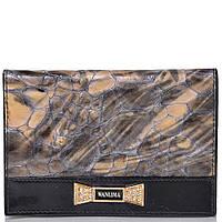 Wanlima Обложка для паспорта женская  WANLIMA (ВАНЛИМА) W11049741606-grey