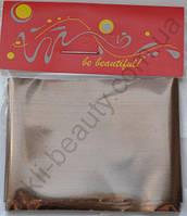 Фольга для дизайна ногтей, литья (переводная). Цвет: глянцевая коричневая (Размер: 4см на 1 метр)