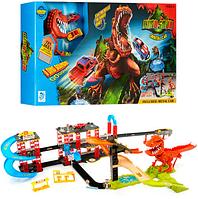 Игровой набор Трек с Динозавром и машинками