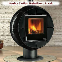 Печь-камин Nordica Fireball Nero Lucido