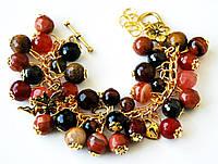 Женский браслет на цепочке из натуральных камней