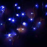 Гирлянда ICICLE (бахрома) светодиодная, 3х0,7м, черный провод «КАУЧУК», диоды синии, 120 led, фото 1