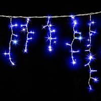 Гірлянда є icicle (бахрома) світлодіодна, 3х0,7м, білий провід, сині діоди, 120 led, фото 1