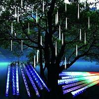 Уличная гирлянда «Тающие сосульки-метеоритный дождь» 70 см, 8 шт, цвета белый, желтый синий, мульти, фото 1