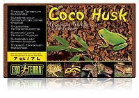 Наполнитель Exo Terra Coco Husk кокосовая стружка для террариума, 7л