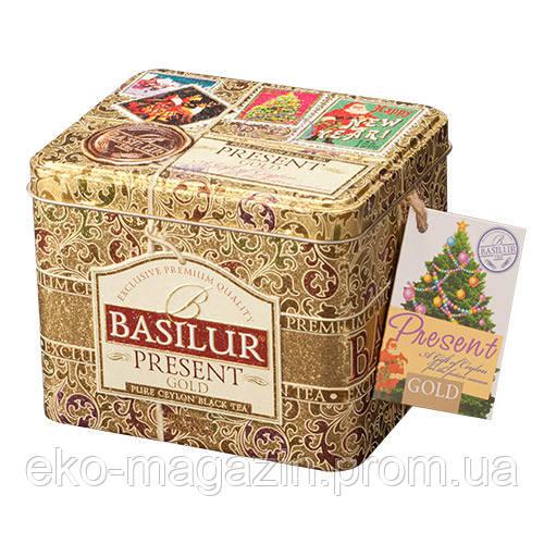 """Чай Basilur """"Золотий"""" 100гр, ж/б"""