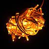 Вулична гірлянда String (нитка) 100 Led,10 метрів, білий провід, колір жовтий