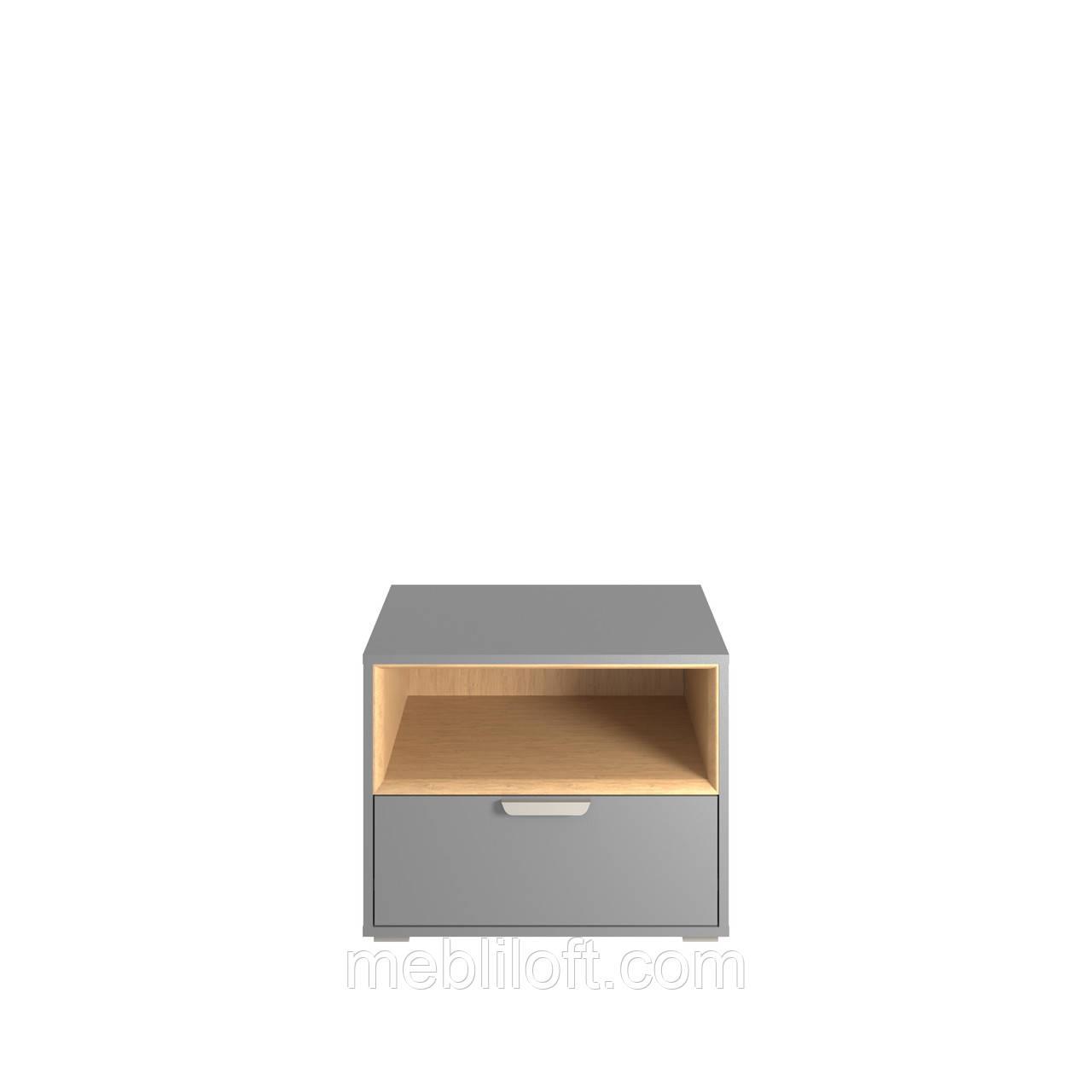 Шкафчик 1N1S  Арте / Arte Графит / дуб каменный