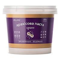 Арахисовая паста Кранч, 1 кг, с хрустящими кусочками арахиса, свежая, натуральная, без добавок