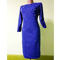 Женское красивое платье осеннее с жемчугом 46р (44р-52р)