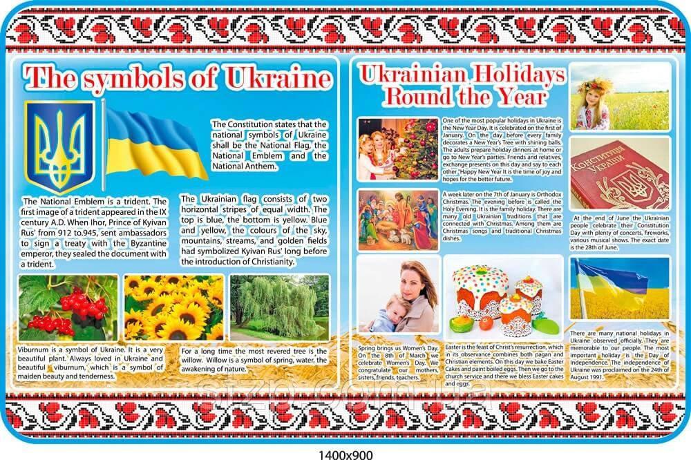 Стенд Символы и традиции Украины (английский язык)