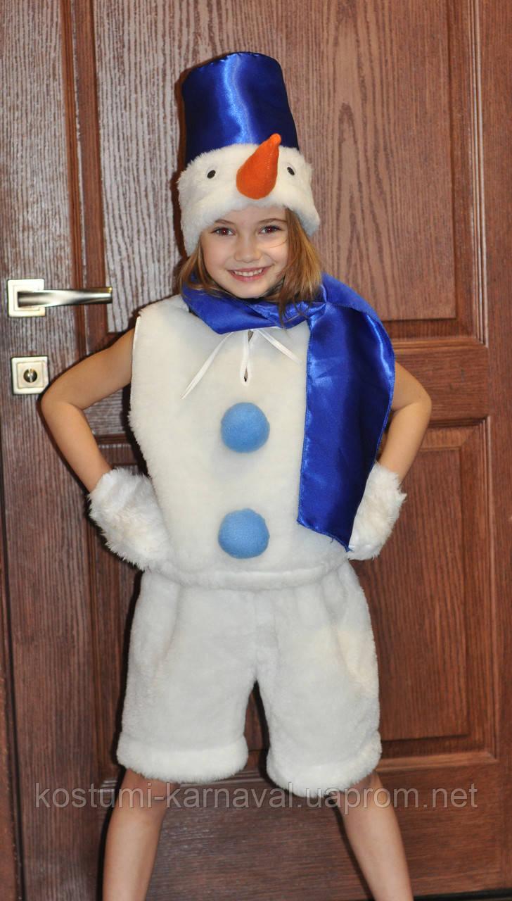 Снеговик Карнавальный костюм ,Новогодний костюм для мальчика