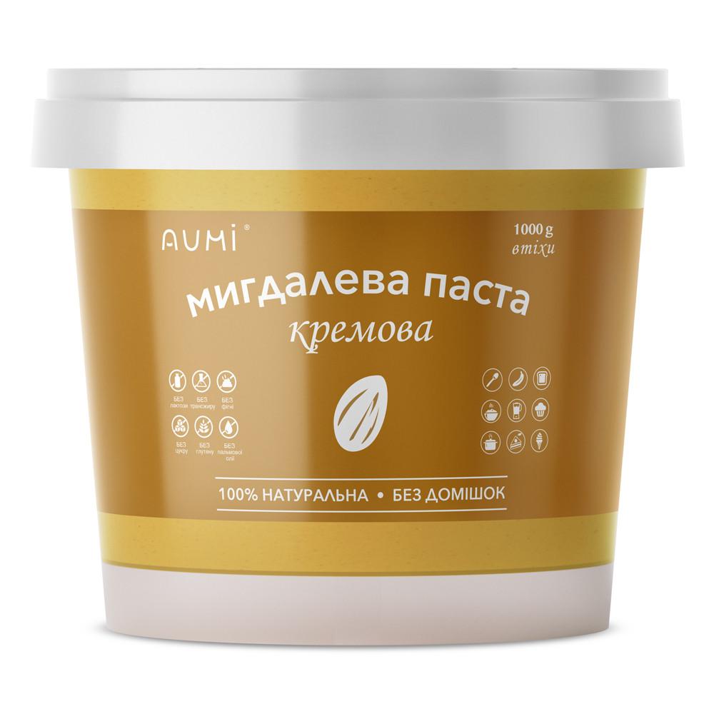 Миндальная паста кремовая, 1 кг, 100% натуральная, из миндаля без шкурки