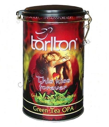 """Чай зелёный Tarlton This Kiss Forever  """"Поцелуй навсегда"""". 300 г, ж/б"""