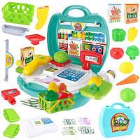 Play House Детский чемодан Моделирование Супермаркет Кассир Box Box Box Boy Girl Портативный подарок для игрушек - 7024 кассовый ящик 1TopShop