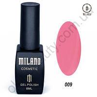 Гель-лак Milano Cosmetic №009, 8 мл