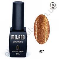 Гель-лак Milano Cosmetic №037, 8 мл
