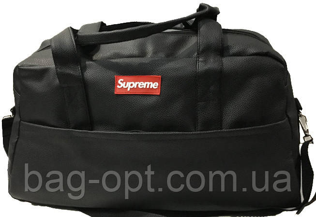 Сумка спортивная Supreme ( 48x27x21 см) черный