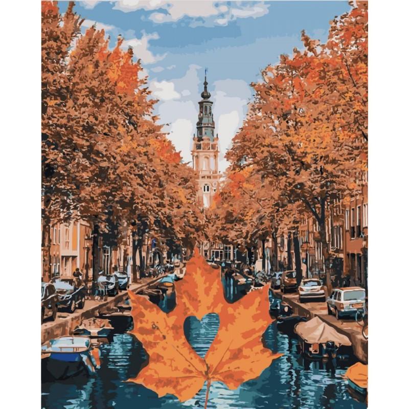 """Картина по номерам. Городской пейзаж """"Яркий Амстердам"""" 40*50см KHO3536"""