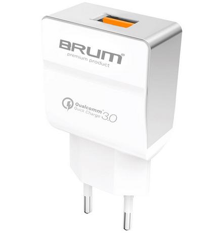 СЗУ, адаптер BRUM BM-SQ-001 Быстрая зарядка QC3.0 (1USB 3.1A), фото 2