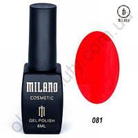 Гель-лак Milano Cosmetic №081, 8 мл