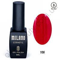 Гель-лак Milano Cosmetic №106, 8 мл