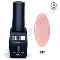 Гель-лак Milano Cosmetic №012, 8 мл
