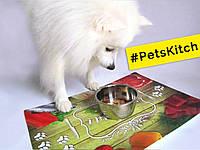 Пластиковая скатерть для собак BonE Appetit! 80х56 см PetsKitch, фото 1