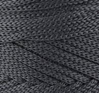 Трикотажный полиэфирный шнур PP Macrame,цвет серый