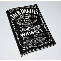 Кожаная мужская обложка для паспорта -JackDanielsBlack-