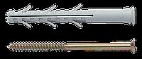 Дюбель APS с шурупом, крестообразный шлиц (PZ) 8х120мм, нейлон, сталь, ЦБ