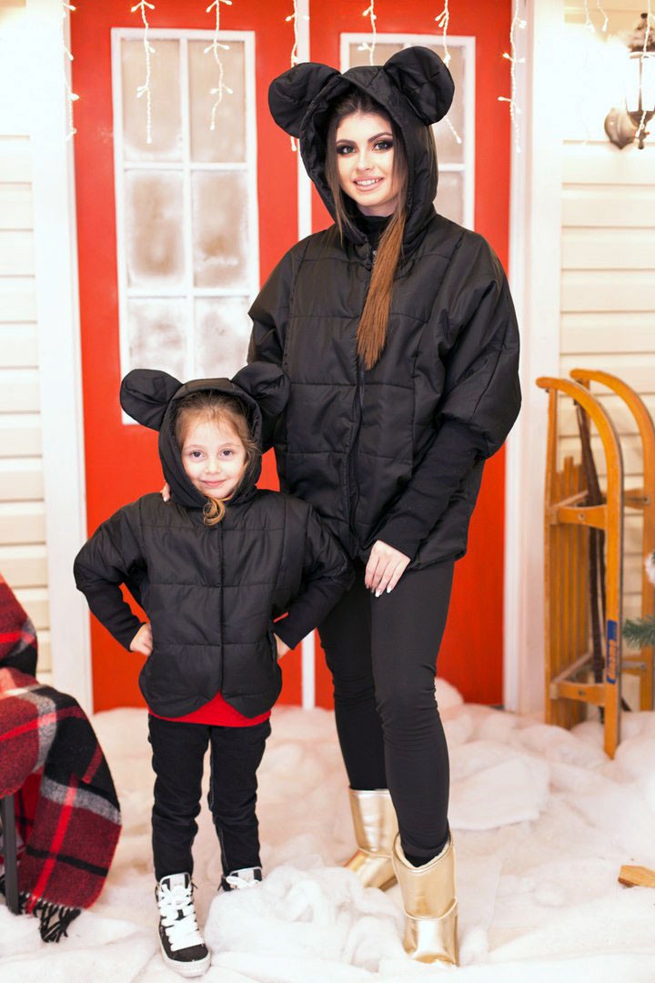 """Детская стильная куртка на синтепоне 4012 """"Микки Летучая Мышь"""""""