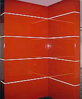 Красные глянцевые декоративные панели с подстветкой, фото 1