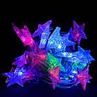 """Світлодіодна гірлянда VENOM """"Зірка"""" 30LED RGB, білий провід (LS-STAR-30LED-WC-RGB) RGB, фото 2"""