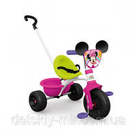 Оригинал. Велосипед трехколесный металлический Be Move Minnie Mouse Smoby 444117