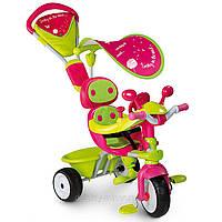 Оригинал. Велосипед трехколесный металлический Baby Driver Confort Sport Fille Smoby 434118