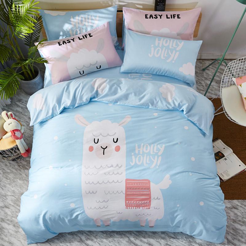Комплект постельного белья Лама (двуспальный-евро) Berni Home