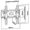 """Кронштейн для телевизоров PLN08-22T диагональю 13-42"""" с наклоном, фото 2"""