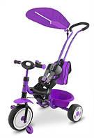 Оригинал. Велосипед трехколесный фиолетовый Boby Delux Milly Mally 2222F