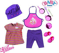 Оригинал. Набор Шеф Повара с аксессуарами для куклы Baby Born Zapf Creation 818220
