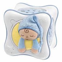 Оригинал. Ночник проектор детский радуга Cube голубой Chicco 24302