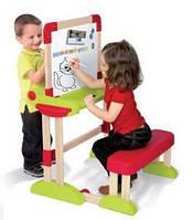 Оригинал. Детская Парта с Двухсторонней Доской для рисования Smoby 28112