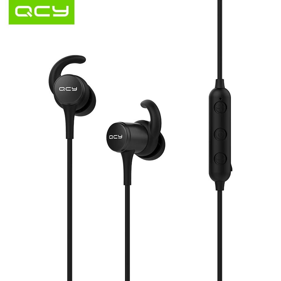 Беспроводные наушники с микрофоном (гарнитура) QCY M1S IPX5 Black